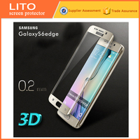 remove air bubbles Easy to paste 3D tempered glass screen protector for samsung galaxy s edge