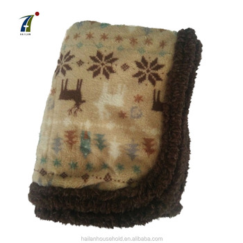 Hot selling customized printing polyester cloud print polar fleece knee blanket