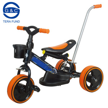 simple tricycle baby with push bar