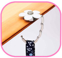Bag hanger slipper design folding bag hanger handbag holder hook