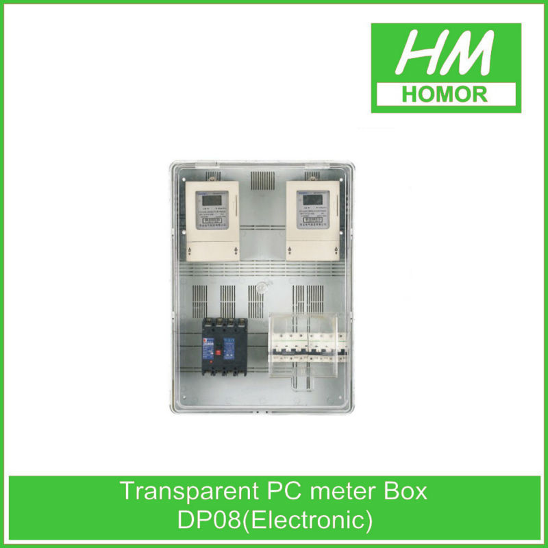 Outdoor waterproof plastic transparent electric service meter box