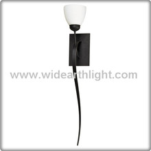 UL CUL Listed Black Finish Hotel Decorative Wall Light With Glass Shade W60127