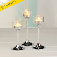 148mm to 188mm Height Candle Cup Holder Crystal Set of 3 Tealight Holder