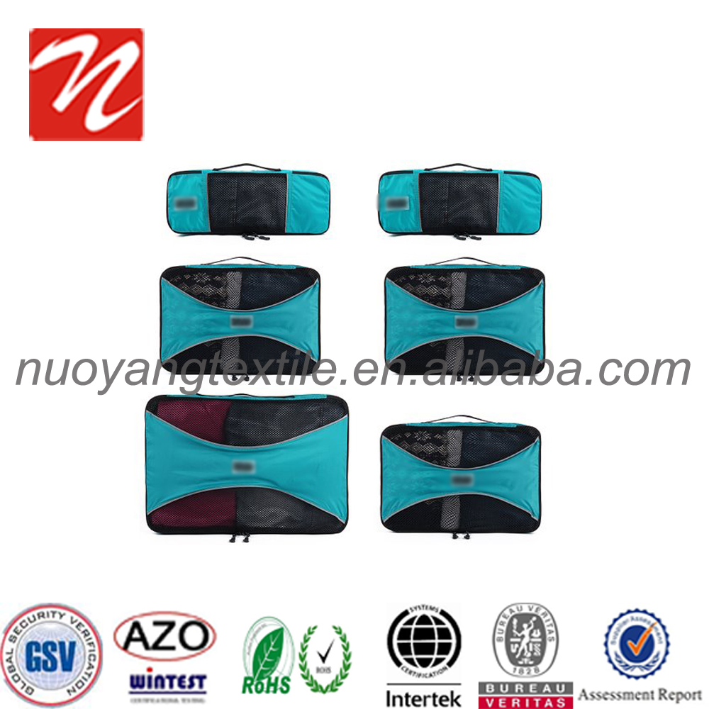 Foldable Durable 6 Pieces travel bag ,Luggage Travel Packing Cubes Bags for suitcase.