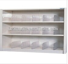 Transparent plastic shelf divider