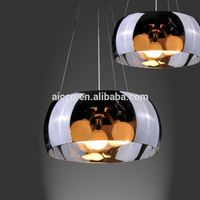 china supplier new product vintage glass shade and chrome metal Pendant Lighting