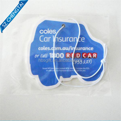 retail fragrance vent paper car air freshener card wholesale