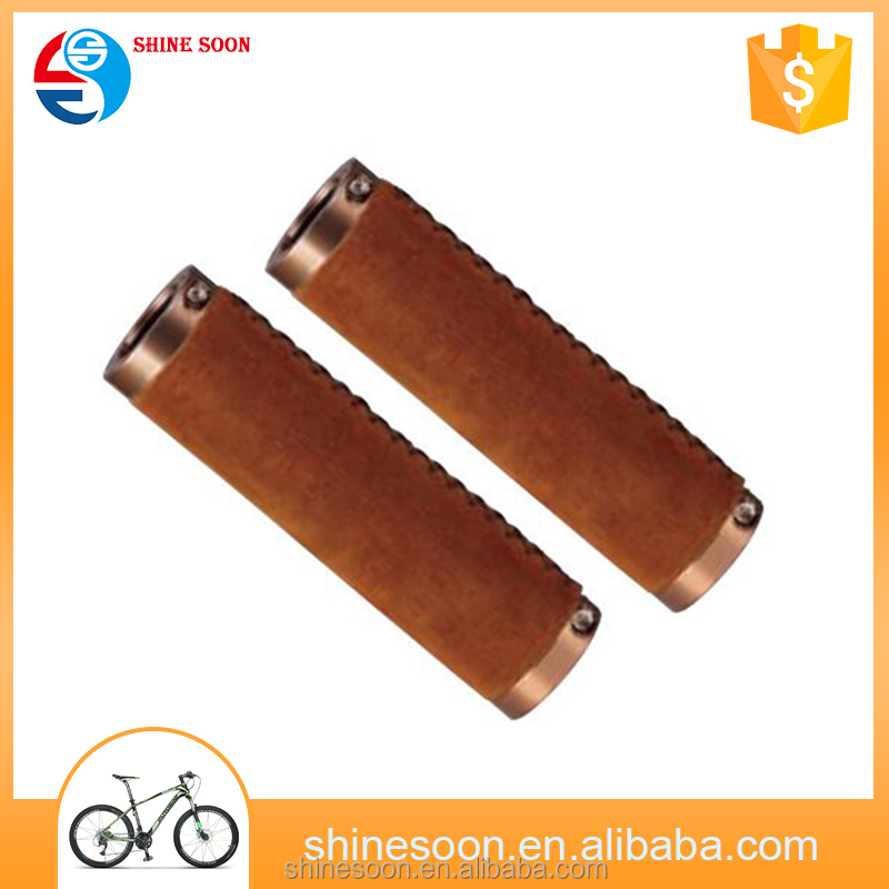 New fahion bike parts handlebar bicycle leather handle bar grips