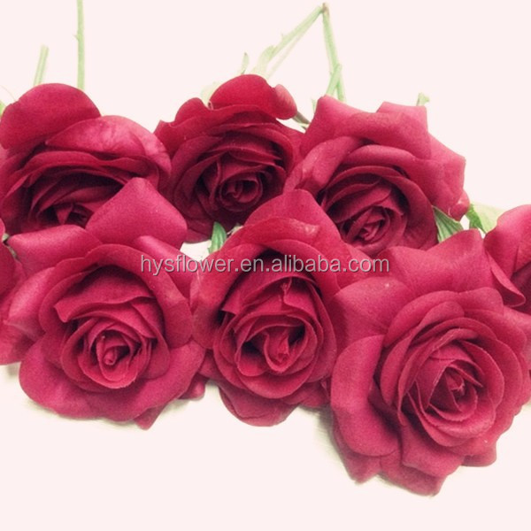 high quality real touch flower head artificial rose head,big rose flower head