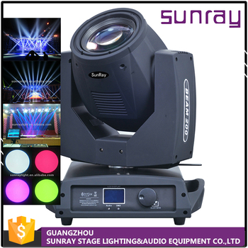 Professional 7A Fuse Dmx512 16 Channel Control Stage Light Beam Spot 230W Moving Heads 7R Beam 230