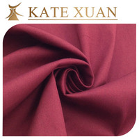 Solid cotton polyester elastane fabric t shirt fabric