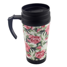 Handled stainless steel thermos mug cup for sublimation