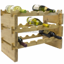 Minghou Standing Decorative Stackable Bamboo Wine Room Wine Rack
