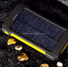 Powerseed waterproof sunplus Solar Cellphone charger 12000mah Portable Solar Power Bank with Dual USB