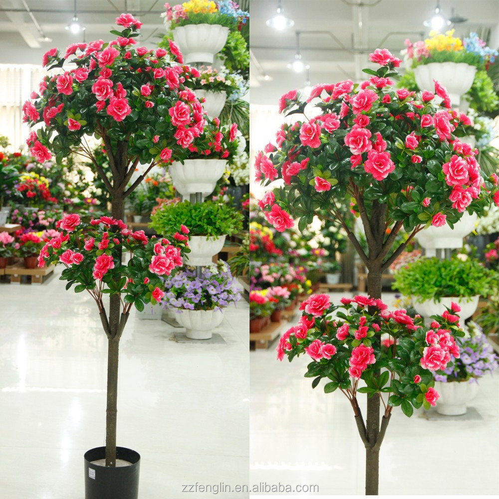 130cm 15 branches wholesales artificial flowering tree china 130cm 15 branches wholesales artificial flowering tree china artificial silk azalea tree for home wedding decoration buy cheap artificial trees artificial dhlflorist Gallery