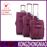 Fashion Design PU Travel Luggage / kongzhongniao hot sales leather cases/ trolley bag for women and men