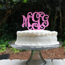 Non-poisonous acrylic cake topper by laser cutting