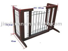 Wooden and metal safety dog gates