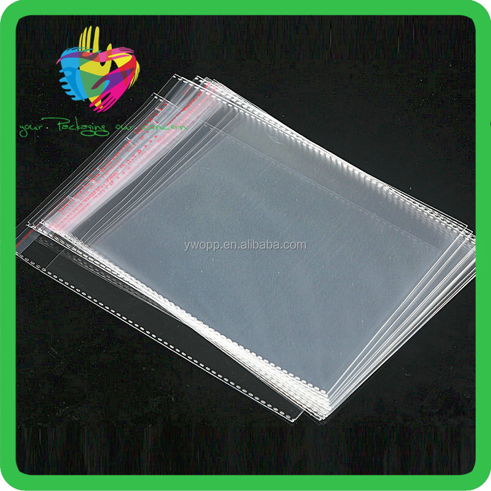 China supplier CD DVD wrap plastic CD sleeve colorful OPP CPP bags