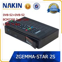 Newest Linux OS Enigma2 HD sat receiver Zgemma Star 2s HD satellite tv receiver with internet connection