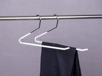 MTH004 Hot sale Garments Usage PVC coated metal hangers for pants