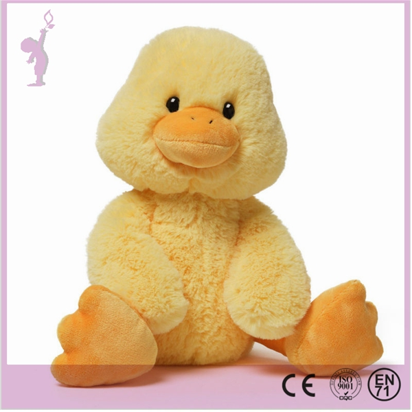 Cute white&yellow plush duck stuffed animal duck toy
