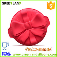 Red bow large silicone custom made baking pans wholesale silicone baking supplies