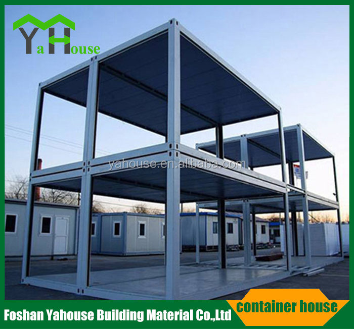 Low cost flatpack prefabricated office container with bed room,kitchen,bathroom