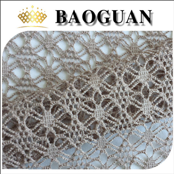 gray color polyester fabric lace for garment BG2086