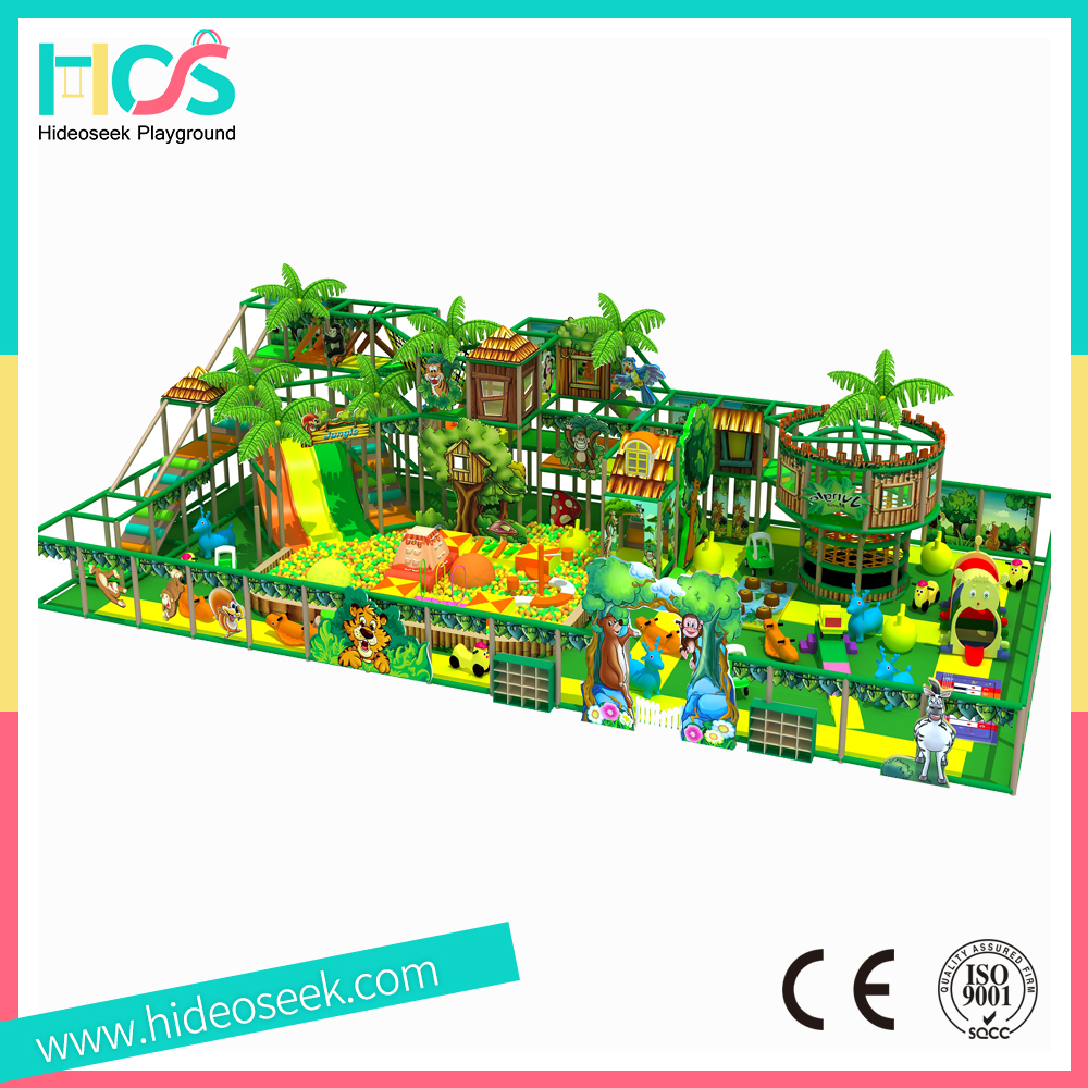 2017 New Jungle style children plastic indoor playground <strong>equipment</strong> for commercial sale