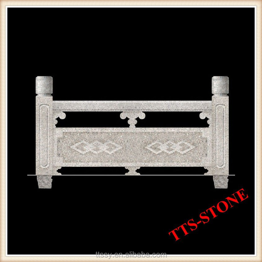 Granite stone carving fence panel
