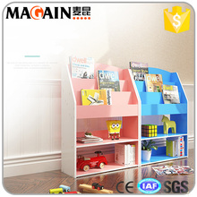 Classical design Durable and safety Multilevel MDF bookshelf for kids