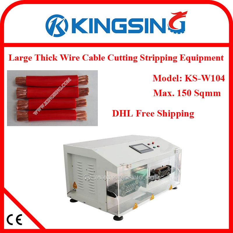 Multi-function Ultra Large Wire / Cable Cutting Stripping Machine KS-W104, Max. OD 30mm