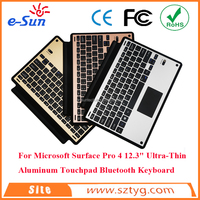 2016 Latest Bluetooth Wireless Keyboard Cover with Touchpad Mouse for Microsoft Surface Pro 4