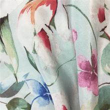 Custom digital print high quality pure silk fabric brocade