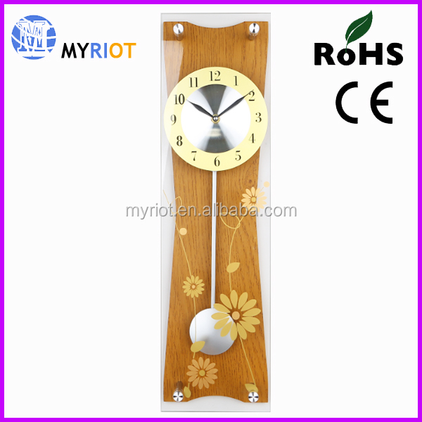 Fashion wall wood mechanical pendulum clock