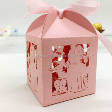 OEM Custom Printed Wedding Favor Gift Special best sell candy box chocolate laser cutting box cake box XK166