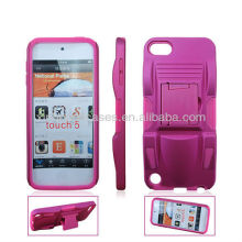 Newest design top quality sports car clip flip stand hard case for ipod touch 5 5th