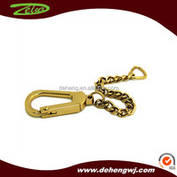 Custom brass handbag metal snap buckle with chain