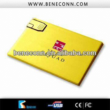 Eco-friendly pure metal casing usb flash card