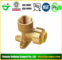 "Elbow Drop Ear 1/2""MPT X1/2"" Push Fit Lead Free cUPC NSF quick connect with PEX COPPER CPVC pipe"