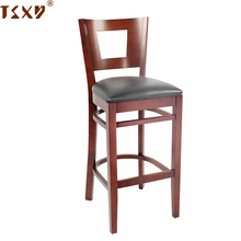 French antique home furniture wooden square back bar chair