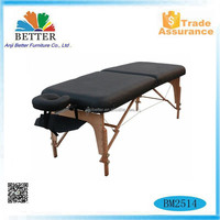 Better 2015 wood massage table 2 section,health care products