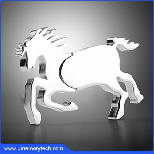 Metal horse usb flash drive horse usb horse pen drive 2015 hot sale usb products