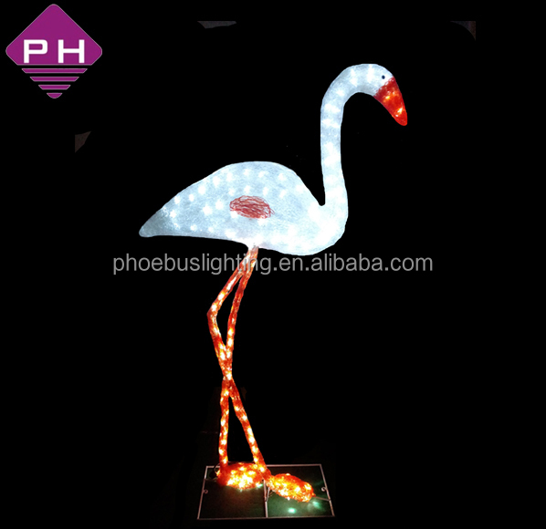 3d motif animal light led flamingo for outdoor garden decoration