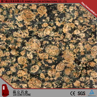 Top sale import Baltic-brown polished white diamond granite slab