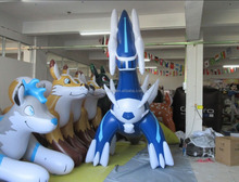 Giant Inflatable Japanese Cartoon Games Characters Blue Cool Monster