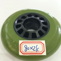 In stock 2014 Promotional hot sell inline skate wheel 80mm