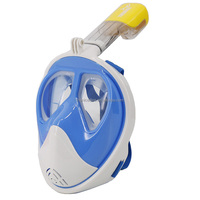 180 Degree Free Breathing Design Snorkel Mask Full Face with Replaceable Lens