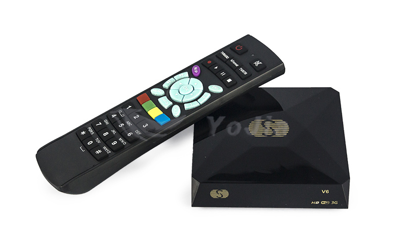Original S-V6 Mini Digital Satellite Receiver V6S S V6 Support 2xUSB WEB TV USB Wifi 3G Biss Key Cccamd Newcamd